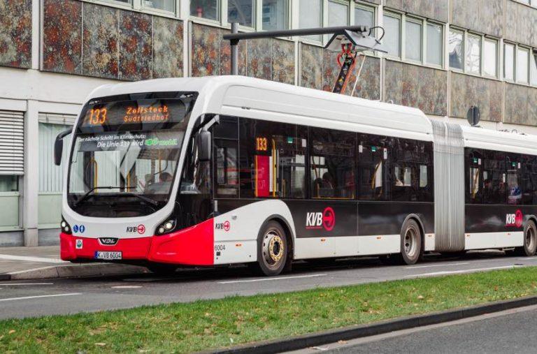 Erprobung von Elektrobussen